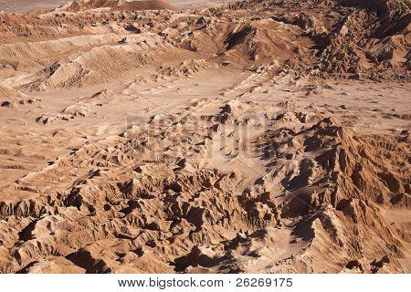 Valle de la Luna (Valle de la luna) cerca de San Pedro de Atacama, Chile