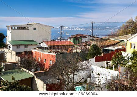 Blick vom Pablo Neruda Museum in Valparaiso, Chile