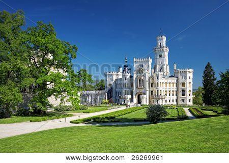 bohemian castle Hluboka nad Vltavou, Czech Republic