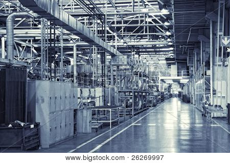 toned shot of industrial background