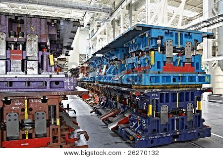 stamping lines in a car plant