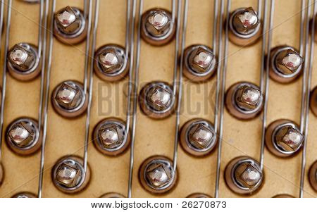 Piano Strings In Macro
