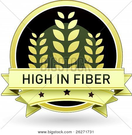 High in fiber food label