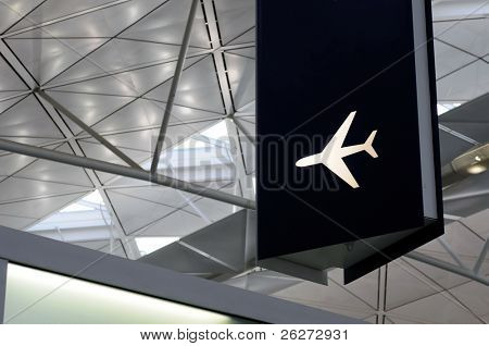 Airport sign of a airplane