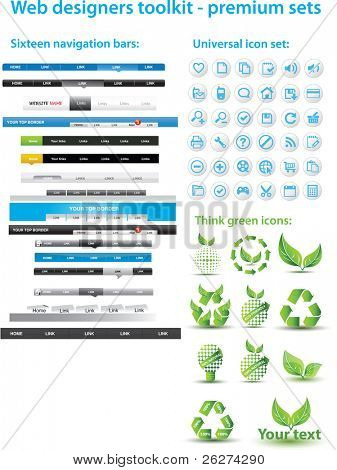 Web designers toolkit - premium sets
