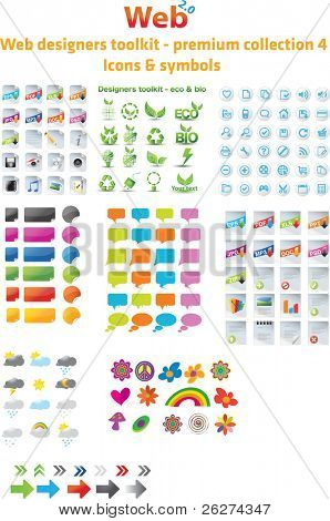 Web Designers Toolkit Premium Collection 4, Symbole & Symbole