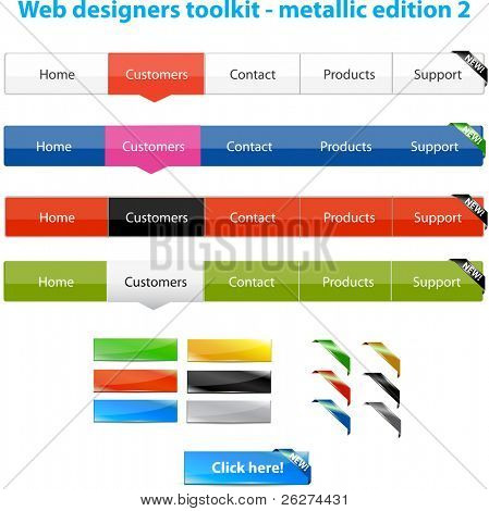 Web designers toolkit - metallic edition 2