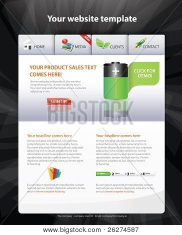 Designers toolkit - web 2.0 template