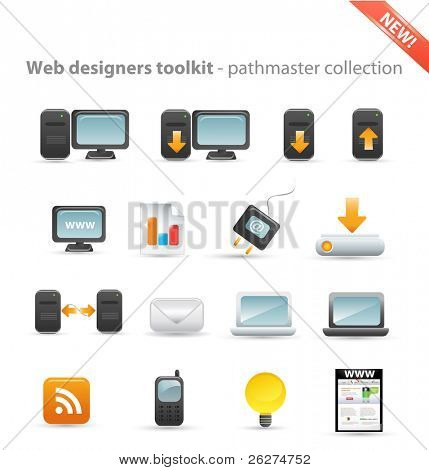 Web designers toolkit - pathmaster collection - computer icon set