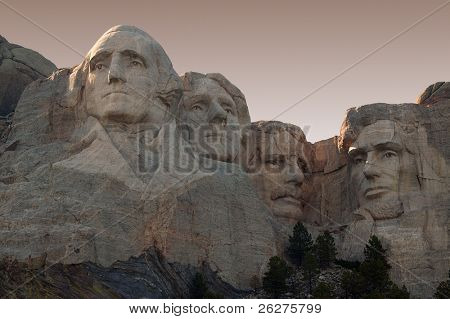 Mount Rushmore in the Black Hills of South Dakota.