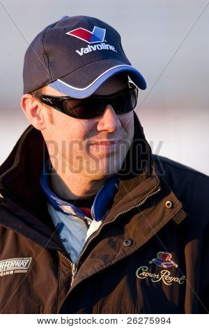 HAMPTON, GA - MAR 5: Matt Kenseth gets ready to qualify for the running of the Kobalt Tools 500 at Atlanta Motor Speedway on Mar 5, 2010 in Hampton, GA.