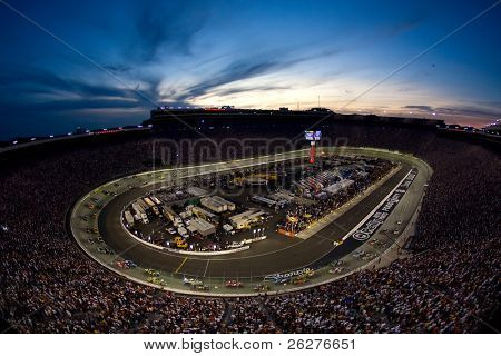 BRISTOL, TN - AUG 23:  The Bristol Motor Speedway plays host to the Sharpie 500 race on Aug 23, 2009 in Bristol, TN .