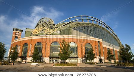MILWAUKEE, WI - JUL 15:  Miller Park is a ballpark located in Milwaukee, Wisconsin on Jul 15, 2009.