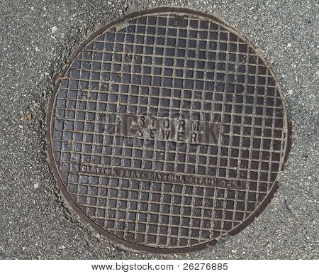 A manhole cover in Daytona Beach, FL