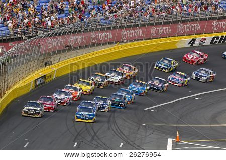 CONCORD, NC - May 30:  The NASCAR Sprint Cup teams take to the track for the Coca-Cola 600 Race at the Charlotte Motor Speedway on May 30, 2010 in Concord, NC