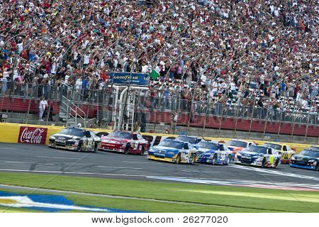 CONCORD, NC - MAY30:  The NASCAR Sprint Cup teams take to the track for the Coca-Cola 600 Race at the Charlotte Motor Speedway in Concord, NC on May 30, 2010