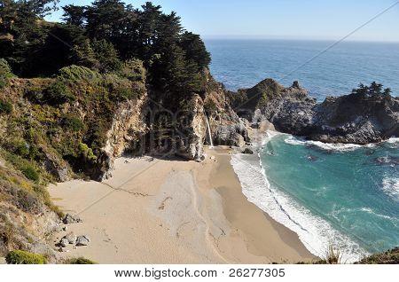 The Beach at McWay Falls in Big Sur, California