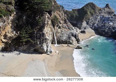 The Beach at McWay Falls in Big Sur, Julia Pfeiffer Burns State Park California