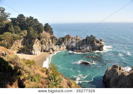 The Cove at McWay Falls in Big Sur, Julia Pfeiffer Burns State Park California