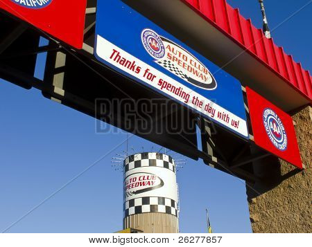 FONTANA, CA - OCT 10:  The Auto Club Speedway plays host to the Pepsi Max 400 race at the Auto Club Speedway in Fontana, CA on Oct 10, 2010.