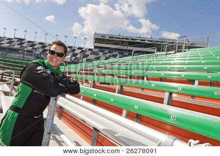 DAYTONA BEACH, FL - FEB 20: Trevor Bayne (21) becomes the youngest driver to win the Daytona 500 race at the Daytona International Speedway on Feb 20, 2011 in Daytona Beach, FL.