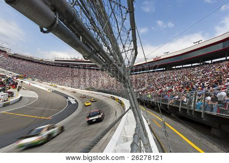 BRISTOL, TN - MAR 20:  The NASCAR Sprint Cup teams take to the track for the running of the Jeff Byrd 500 race at the Bristol Motor Speedway in Bristol, TN on Mar 20, 2011.