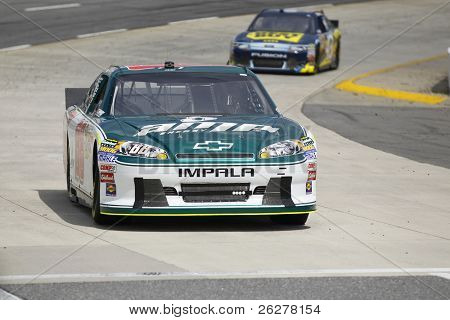 MARTINSVILLE, VA - APR 01:  Dale Earnhardt, Jr. (88) takes to the track for the Goody's Fast Relief 500 race at the Martinsville Speedway in Martinsville, VA on Apr 01, 2011.