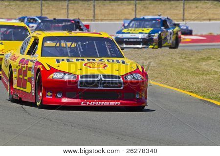 SONOMA, CA - JUNE 26:  Kurt Busch (No. 22) takes to the track for the Toyota/Save Mart 350 race at the Infineon Raceway in Sonoma, CA on June 26, 2011.