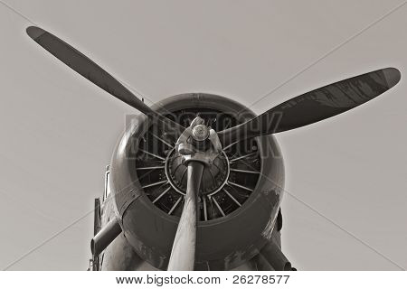 Nostalgic WWII aircraft at an air show
