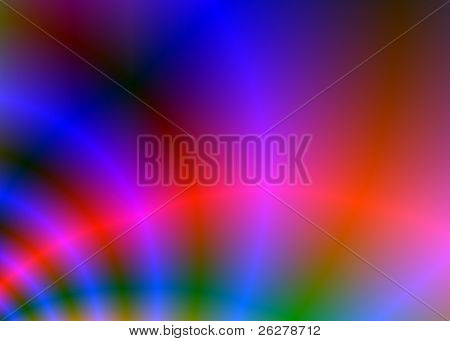 A colorful background with blurred colors and bright curves of light