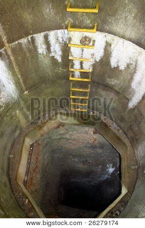 Disused mine shaft, cornwall, UK