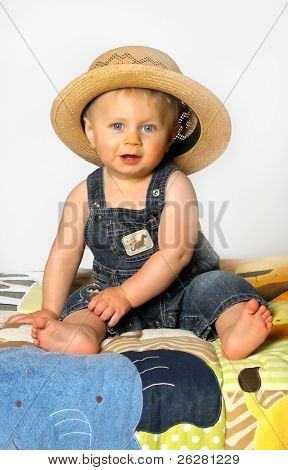 Boy With Straw Hat