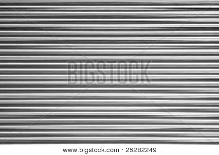 Corrugated metal abstract background.