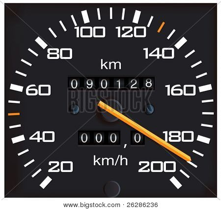 vector detailed speedometer, easy for edit