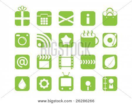 conjunto de iconos de la web de mono color