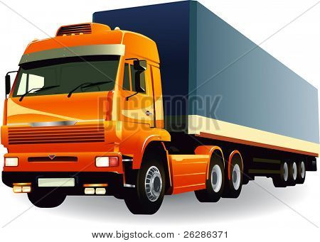 great detail cargo truck vector 01