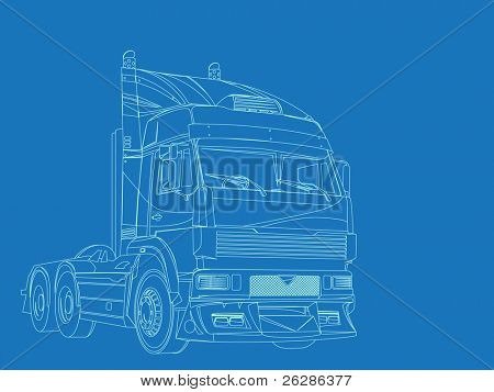 blue print of super truck