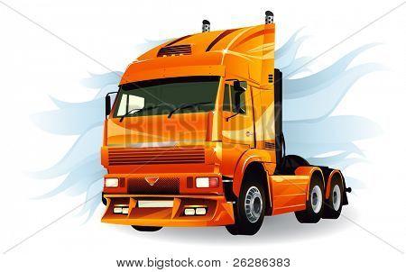 Super truck high detailed vector