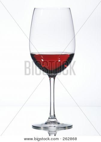 Glas rot Wein