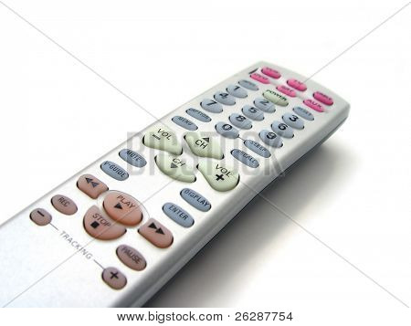 TV remote control isolate don white background