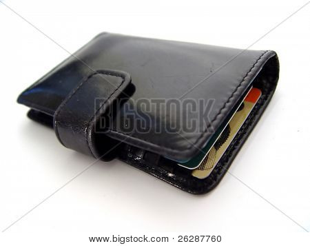 Ladies wallet isolated on white background