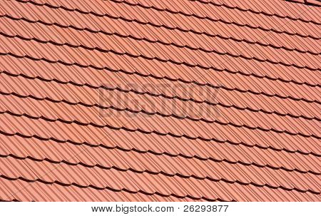 Roof pattern with clean red tiles
