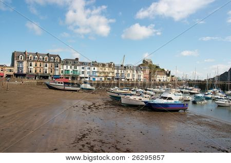 Ilfracombe, small coastal town in England
