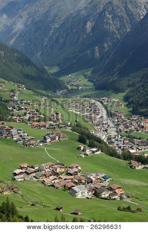 Solden, Austria, small town between ig mountains