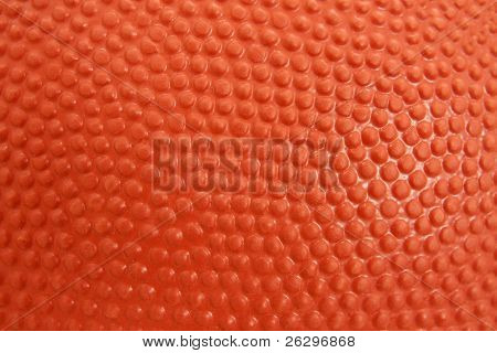 Detailed closeup of the texture of a basketball