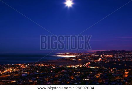 Moon Set Over Dana Point