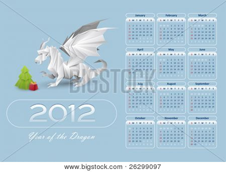 calendar 2012 blue color