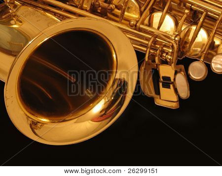 sax on the black background