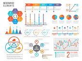 Infographics Elements. Statistics Chart, Option Flowchart And Timeline. Diagram, Budget Graph. Busin poster