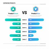 Comparison Table. Graphs For Product Compare. Choosing And Comparison Content. Vector Infographic Co poster